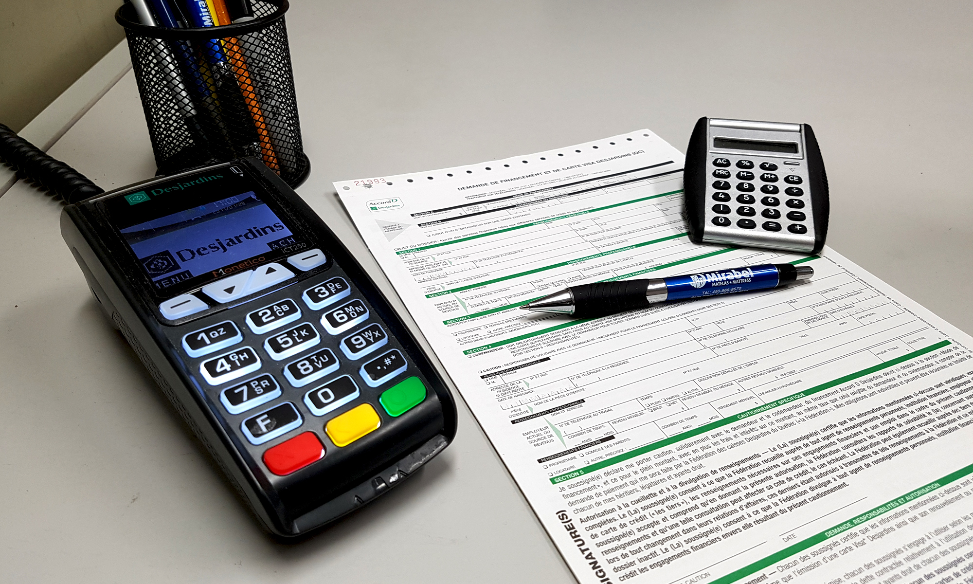 Calculatrice et formulaire de financement